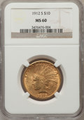 Indian Eagles, 1912-S $10 MS60 NGC....