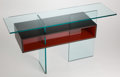 Furniture , AN EBONIZED AND LACQUERED CONSOLE TABLE . Late 20th century . 29-1/8 x 43 inches (74.0 x 109.2 cm). ...