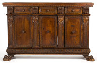 AN ITALIAN RENAISSANCE STYLE WALNUT SIDEBOARD 17th century in part 34 x 52-1/2 x 13-1/2 inches (86.4 x 133.4