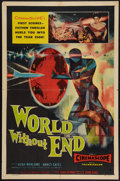 "Movie Posters:Science Fiction, World Without End (Allied Artists, 1956). One Sheet (27"" X 41""). Science Fiction.. ..."