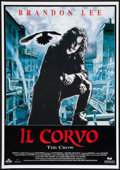 "Movie Posters:Action, The Crow (Mediaset, 1994). Italian (27.5"" X 39.5""). Action.. ..."