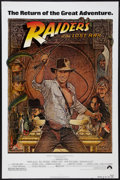 "Movie Posters:Adventure, Raiders of the Lost Ark (Paramount, R-1982). One Sheet (27"" X40.5""). Adventure.. ..."