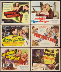 """For You I Die and Others Lot (Film Classics, Inc., 1948). Title Lobby Cards (5) and Lobby Card (1) (11"""" X 14"""")..."""