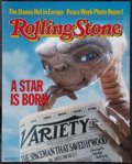 "Movie Posters:Science Fiction, E.T. The Extra-Terrestrial (Universal, July, 1982). Rolling StoneMagazine Newstand Poster (17.25"" X 21.75""). Science Fictio..."
