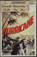 "Movie Posters:Action, The Hurricane (United Artists, 1937). Belgian (10.75"" X 17"").Action.. ..."
