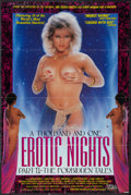 """Movie Posters:Adult, A Thousand and One Erotic Nights Part II and Other Lot (VCA,1988). Video One Sheet (24"""" X 36"""") and One Sheet (25"""" X 38""""). Ad... (Total: 2 Items)"""