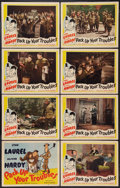 """Movie Posters:Comedy, Pack Up Your Troubles (Film Classics, R-1944). Lobby Card Set of 8(11"""" X 14""""). Comedy.. ... (Total: 8 Items)"""
