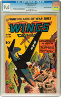 Golden Age (1938-1955):War, Wings Comics #54 Mile High pedigree (Fiction House, 1945) CGC NM+9.6 Off-white to white pages....