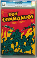 Boy Commandos #1 Billy Wright pedigree (DC, 1942) CGC VF/NM 9.0 Off-white to white pages