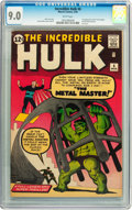 Silver Age (1956-1969):Superhero, The Incredible Hulk #6 (Marvel, 1963) CGC VF/NM 9.0 White pages....