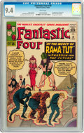 Silver Age (1956-1969):Superhero, Fantastic Four #19 (Marvel, 1963) CGC NM 9.4 White pages....