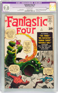 Silver Age (1956-1969):Superhero, Fantastic Four #1 (Marvel, 1961) CGC Apparent VF/NM 9.0 Slight (A)Off-white pages....