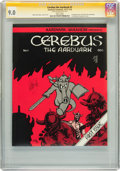 Bronze Age (1970-1979):Alternative/Underground, Cerebus The Aardvark #1 Signed by Dave Sim (Aardvark-Vanaheim, 1977) CGC Signature Series VF/NM 9.0 White pages....