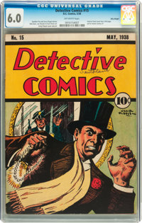 Detective Comics #15 Billy Wright pedigree (DC, 1938) CGC FN 6.0 Off-white pages