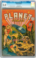Golden Age (1938-1955):Science Fiction, Planet Comics #5 (Fiction House, 1940) CGC GD 2.0 Off-whitepages....