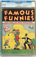 Platinum Age (1897-1937):Miscellaneous, Famous Funnies #1 (Eastern Color, 1934) CGC VG 4.0 Off-whitepages....