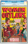 Golden Age (1938-1955):Western, Women Outlaws #1 Mile High pedigree (Fox Features Syndicate, 1948)CGC VF+ 8.5 White pages....