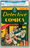 Golden Age (1938-1955):Superhero, Detective Comics #35 Billy Wright pedigree (DC, 1940) CGC VG 4.0 Off-white to white pages....