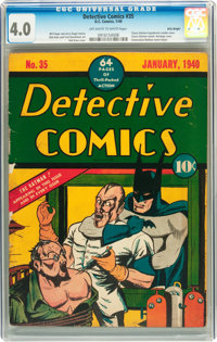 Detective Comics #35 Billy Wright pedigree (DC, 1940) CGC VG 4.0 Off-white to white pages