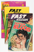 Golden Age (1938-1955):Classics Illustrated, Fast Fiction/Famous Authors Group (Seaboard Pub., 1949-50)....(Total: 3 Comic Books)