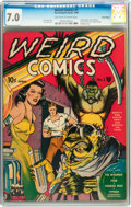 Golden Age (1938-1955):Horror, Weird Comics #1 Billy Wright pedigree (Fox Features Syndicate,1940) CGC FN/VF 7.0 Off-white to white pages....