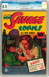Doc Savage Comics #1 Billy Wright pedigree (Street & Smith, 1940) CGC VF 8.0 Off-white to white pages