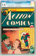 Golden Age (1938-1955):Superhero, Action Comics #24 Billy Wright pedigree (DC, 1940) CGC FN/VF 7.0 Off-white to white pages....