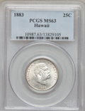 Coins of Hawaii: , 1883 25C Hawaii Quarter MS63 PCGS. PCGS Population (275/579). NGCCensus: (165/452). Mintage: 500,000. (#10987)...
