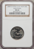Statehood Quarters, 2004-D 25C Wisconsin Extra Leaf High MS66 NGC. PCGS Population(149/2). Numismedia Wsl. Price for probl...