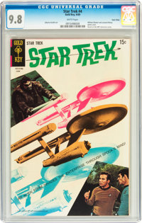 Star Trek #4 Twin Cities pedigree (Gold Key, 1969) CGC NM/MT 9.8 White pages