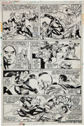 Original Comic Art:Panel Pages, Gil Kane and Dick Giordano Marvel Premiere #15 FirstAppearance of Iron Fist Page 3 Original Art (Marvel, 1974)....