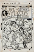Original Comic Art:Covers, Gil Kane and Bill Everett Sub-Mariner #58 Cover Original Art(Marvel, 1973).... (Total: 2 Items)