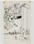 Original Comic Art:Covers, Will Eisner The Spirit #2 Cover Original Art (Harvey,1967).... (Total: 2 Items)
