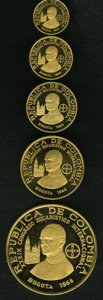 Colombia, Colombia: Republic gold Proof Set 1968,... (Total: 5 coins)