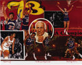 """Basketball Collectibles:Others, 1972-73 New York Knicks Team Signed Lithograph. Artist proof 16x20"""" lithograph from the art of Robert Stephen Simon celebrat..."""