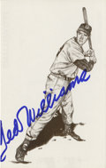 Autographs:Post Cards, Ted Williams Signed Print. Small print given to visitors of the TedWilliams Hitters Hall of Fame for an induction ceremony...