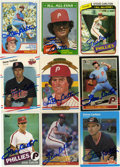 Autographs:Sports Cards, 1980's Steve Carlton Autographed Card Group Lot of 9. SteveCarlton, HOF member and a four-time Cy Young Award recipient wit...