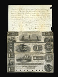 Obsoletes By State:Massachusetts, Uxbridge, MA- The Blackstone Bank $1.25; $1.50; $1.75 18__ G18-20Proofs. ... (Total: 3 notes)