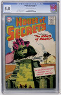 Silver Age (1956-1969):Horror, House of Secrets #1 (DC, 1956) CGC VG/FN 5.0 Cream to off-whitepages....