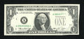 Error Notes:Foldovers, Fr. 1908-A $1 1974 Federal Reserve Note. Choice CrispUncirculated....