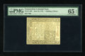 Colonial Notes:Connecticut, Connecticut June 19, 1776 1s/3d Uncancelled PMG Gem Uncirculated 65 EPQ....