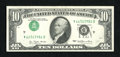 Error Notes:Inverted Third Printings, Fr. 2023-D $10 1977 Federal Reserve Note. Choice CrispUncirculated.. This Type I inverted third printing certainly is eyec...