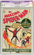 Silver Age (1956-1969):Superhero, The Amazing Spider-Man #1 (Marvel, 1963) CGC Apparent FN+ 6.5 Off-white to white pages....