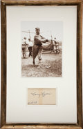 "Baseball Collectibles:Others, Larry ""Nap"" Lajoie Signed Index Card Display...."