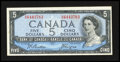 Canadian Currency: , BC-39a $5 1954. ...