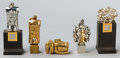 Bronze:European, FIVE ITALIAN MICRO FIGURAL PUZZLES BY MIGUEL BERROCAL (SPANISH,1933-2006) . Circa 1970. Marks: berrocal. 2-1/2 inches h...(Total: 5 Items)