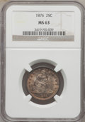 Seated Quarters: , 1876 25C MS63 NGC. NGC Census: (86/140). PCGS Population (111/184).Mintage: 17,817,150. Numismedia Wsl. Price for problem ...