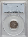 Barber Dimes: , 1899-O 10C XF40 PCGS. PCGS Population (12/75). NGC Census: (2/64).Mintage: 2,650,000. Numismedia Wsl. Price for problem fr...