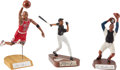 Baseball Collectibles:Others, Roy Campanella and Michael Jordan Signed Salvino Statues Lot....