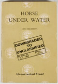Books:Mystery & Detective Fiction, Len Deighton. Horse Under Water - Uncorrected Proof. London:Jonathan Cape, [1963]. First edition, uncorrected p...